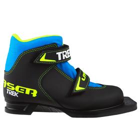 Ski boots TREK Laser NN75 IR, black, logo lime neon, size 35.