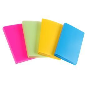 Визитница 60 карт, 3 карты на 1 листе, обложка пластик, МИКС, CALLIGRATA в Донецке