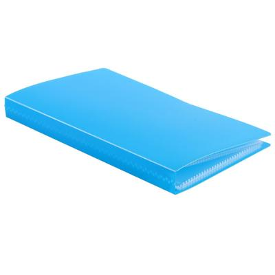 Визитница 120 карт, 3 карты на 1 листе, обложка пластик, МИКС, CALLIGRATA