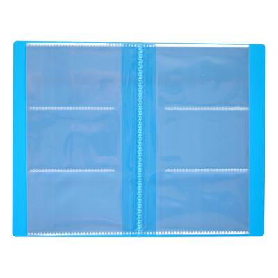 Business card holder 120 cards 3 cards on 1 sheet, cover with plastic MIX CALLIGRATA