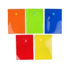 Папка-конверт на кнопке, формат А6, 180 мкр, вертикальная, глянцевая, МИКС, CALLIGRATA