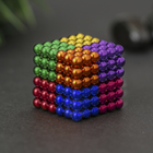 """Антистресс магнит """"Неокуб"""" 216 шариков d=0,5 см (8 цветов) 3х3 см"""