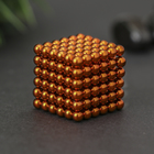 Антистресс-магнит «Неокуб», 1.8 × 1.8 см, 216 шариков (d = 0,3 см), цвет оранжевый