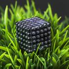 """Антистресс магнит """"Неокуб"""" 216 шариков d=0,3 см (чёрный) 1,8х1,8 см"""