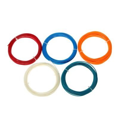 Plastic for 3D pen ABS LuazON-5, 10 m, 5 colors in a set MIX