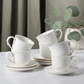 Сервиз кофейный «Лали», 12 предметов: 6 чашек 90 мл, 6 блюдец 11,5 см