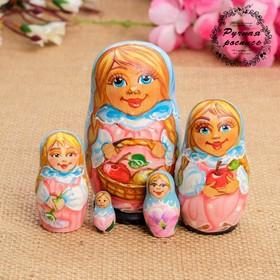 Матрёшка «Любава», с яблоками, 5 кукольная, 11х6,5х5,5 см