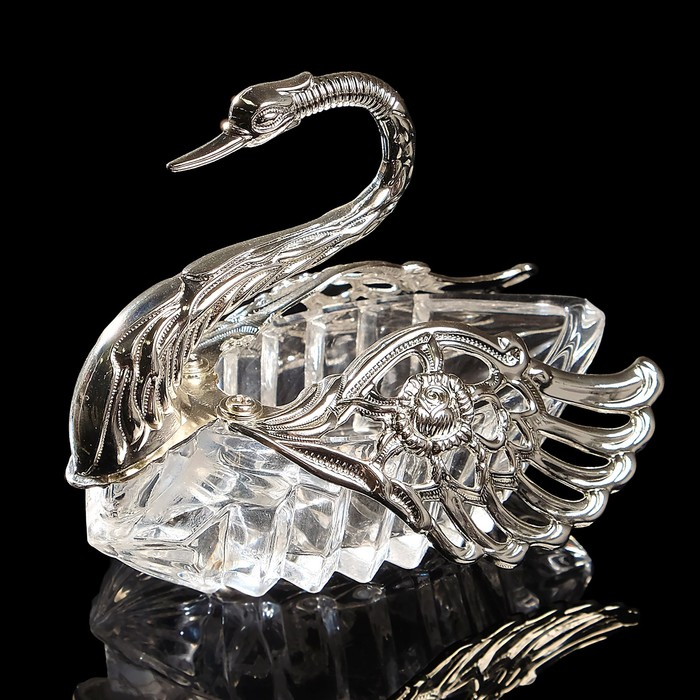 Сахарница «Лебедь», 11×8×10 см