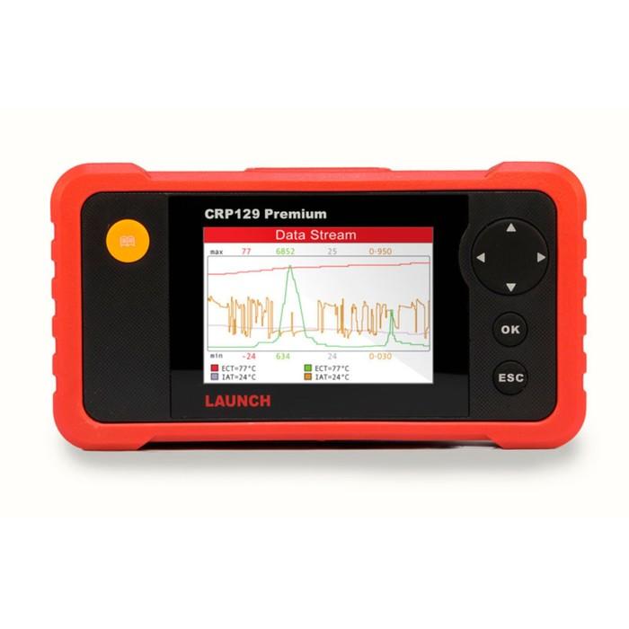 """Сканер диагностический Launch Creader Pro 129 Premium, OBDII разъем, 9-18 В, 4"""" ЖКИ дисплей   395775"""