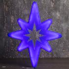 "Фигура уличная ""Звезда синяя"", 57х38х4 см, пластик, 220 В, 3 метра провод, фиксинг, СИНИЙ"