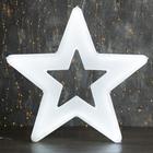 "Фигура уличная ""Звезда белая"", 56х56х4 см, пластик, 220 В, 3 метра провод, фиксинг, БЕЛЫЙ"