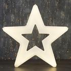 "Фигура уличная ""Звезда белая"", 56х56х4 см, пластик, 220 В, 3 метра провод, фиксинг, Т-БЕЛЫЙ   361243"
