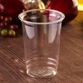 Стакан ПЭТ 400 мл, прозрачный,  d=9,5 см, h=12,8 см Ош