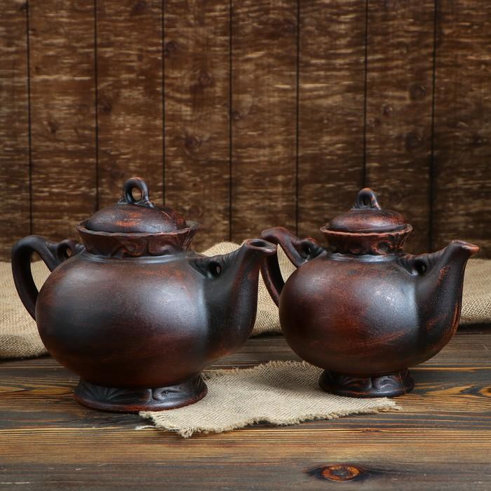 """Набор чайный """"Карачун"""" 2 предмета, гладкий, чайник 2 л, 1,5 л"""