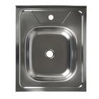 """Мойка кухонная """"Владикс"""", накладная, без сифона, 50х60 см, нержавеющая сталь 0.4 мм"""