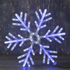 "Фигура ""Снежинка"" d=60 см, пластик, 196 LED, бегущий эффект, 220V, БЕЛО СИНИЙ"