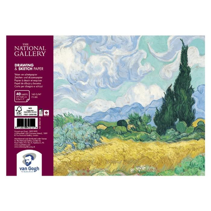 Альбом для Сухих техник А4 Royal Talens Van Gogh National Gallery 40л 160г/м спираль