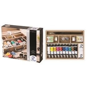 """Краски масляные набор в тубах 10 цветов х 40 мл, Royal Talens Van Gogh """"Базовый"""", в деревянной коробке"""