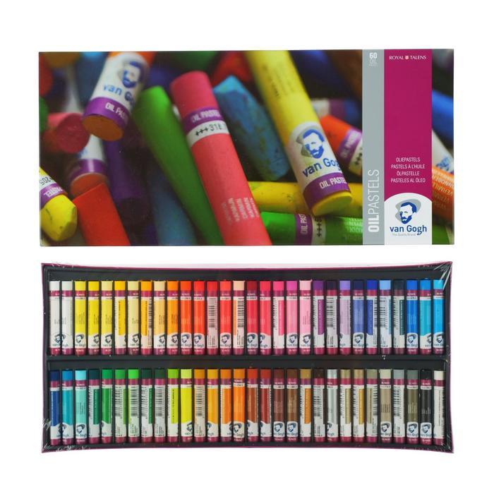 """Пастель масляная художественная 60 цветов Royal Talens Van Gogh """"Профессиональный"""", в картонной коробке - фото 942135"""