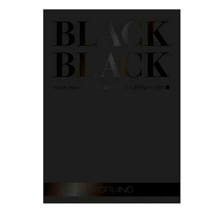 Альбом для Сухих техник А4 210*297 Fabriano BlackBlack 20л 300г/м скл Satin
