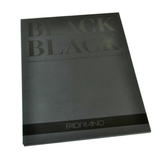 Альбом для Сухих техник B4 240*320 Fabriano BlackBlack 20л 300г/м скл Satin
