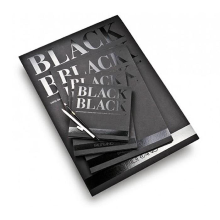 Альбом для Сухих техник А2 210*297 Fabriano BlackBlack 20л 300г/м скл Satin