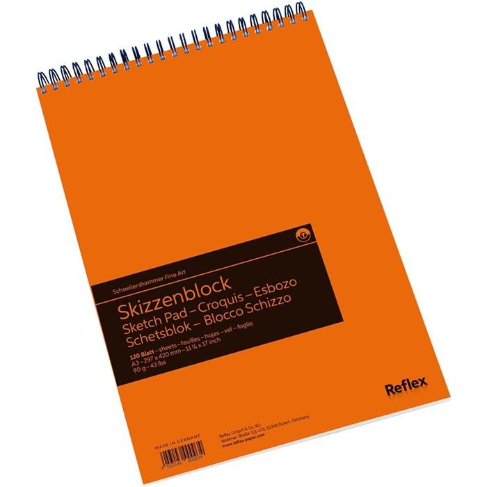 Альбом для Графики А3 Reflex Sketching 120л 90г/м² спираль, перфорация