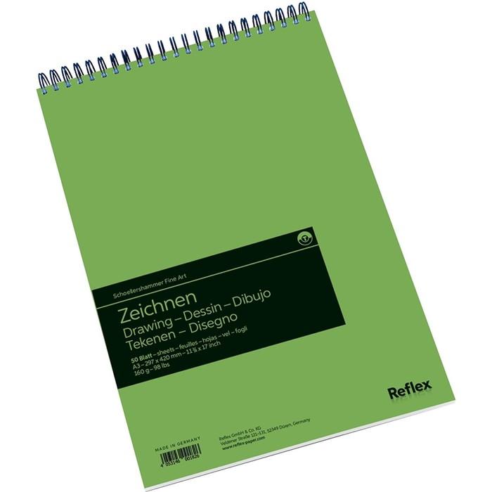 Альбом для Графики А3 Reflex Drawing 50л 160г/м² спираль, перфорация