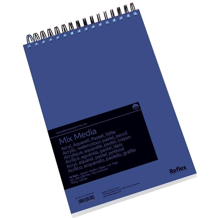 Альбом Смешанные техники А4 210*297 Reflex MixMedia 30л 300 г/м² спираль перф