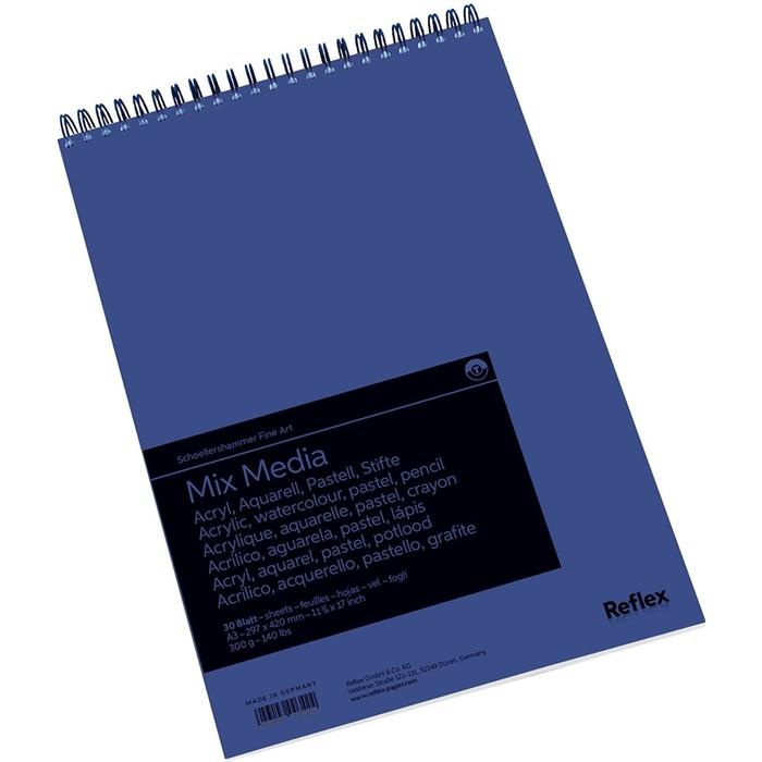 Альбом Смешанные техники А3 210*297 Reflex MixMedia 30л 300 г/м² спираль перф