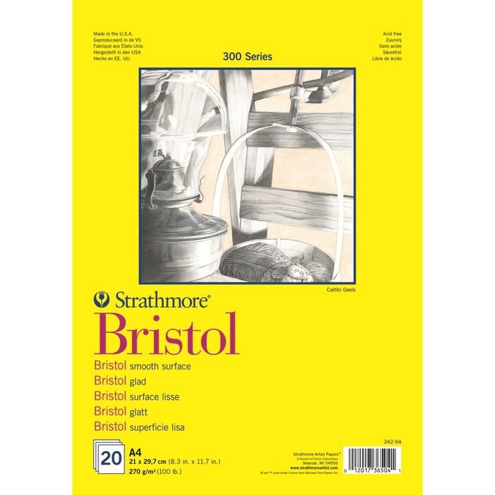 Альбом для Графики А4 Strathmore Bristol 300 Series 20л 270г/м² спираль