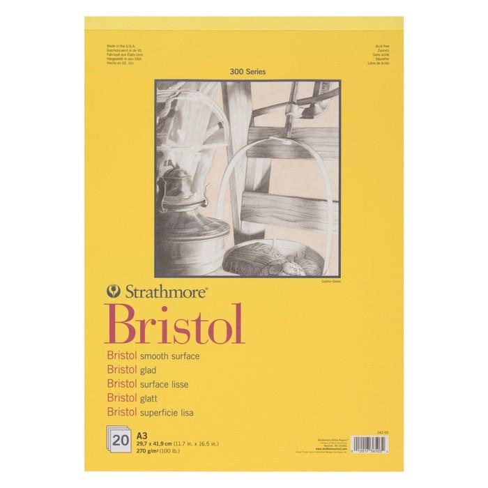 Альбом для Графики А3 Strathmore Bristol 300 Series 20л 270г/м² спираль