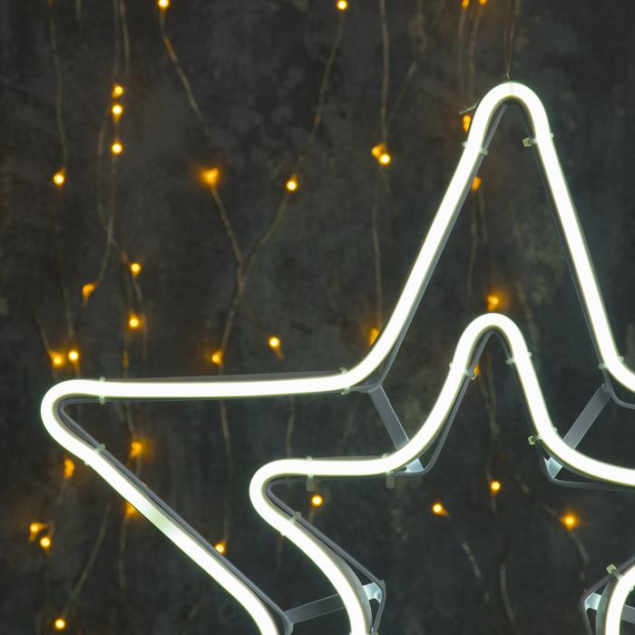 """Фигура неоновая """"Звезда двойная"""" 36х36 см, 240 LED, 220V, БЕЛЫЙ"""