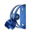 Держатель для душевой лейки, регулируемый, алюминий, цвет синий
