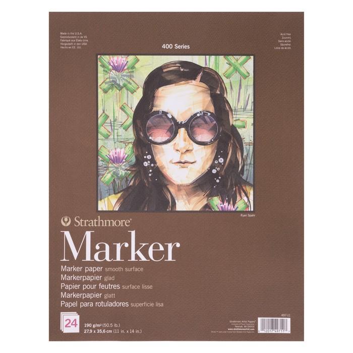 Альбом для маркеров B4 279*356 Strathmore 400 Series 190г/м² 24л скл