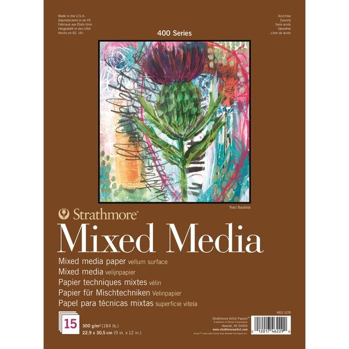 Альбом Смешанные техники С4 230*305 Strathmore MixMedia 400 Series 15л 300 г/м² склейка