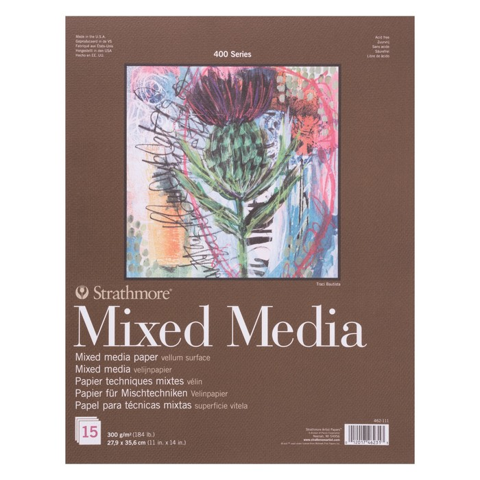 Альбом Смешанные техники B4 280*356 Strathmore MixMedia 400 Series 15л 300 г/м² склейка