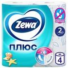 Туалетная бумага Zewa Плюс «Свежесть океана», 2 слоя, 4 рулона
