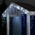 "Гирлянда ""Бахрома"" уличная, УМС, 3 х 0.6 м, 3W LED-160/50-220V, мерцание, нить белая, свечение белое"