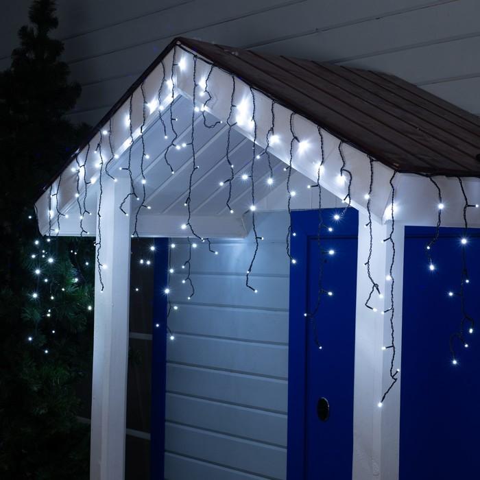 """Гирлянда """"Бахрома"""" уличная, УМС, 3 х 0.6 м, 3W LED-160/50-220V, мерцание, свечение белое"""