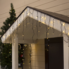 "Гирлянда ""Бахрома"" уличная, УМС, 3 х 0.6 м, 3W LED-160/50-220V, мерцание, свечение тёплое белое"