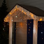 "Гирлянда ""Бахрома"" уличная, УМС, 3 х 0.6 м, 3W LED-160/50-220V, мерцание, свечение жёлтое"