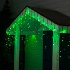 "Гирлянда ""Бахрома"" уличная, УМС, 3 х 0.6 м, 3W LED-160/50-220V, мерцание, свечение зелёное"