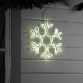 "Фигура из неона ""Снежинка"", 40х40 см, 360 LED, 220V, БЕЛЫЙ"