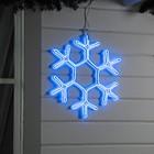 "Фигура неоновая ""Снежинка"" 50х50 см, 480 LED, 220V, СИНИЙ"
