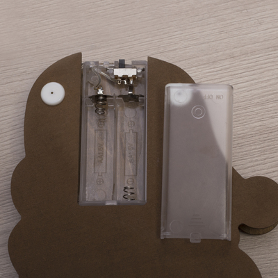 """Фигура деревянная """"Дед мороз"""", 29х18х4 см, 2*AA (не в компл.) 5 LED"""