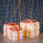 "Фигура новогодняя ""Подарки с шариками"", 35 LED, 15 х 20 х 25 см, от батареек (не в компл)"