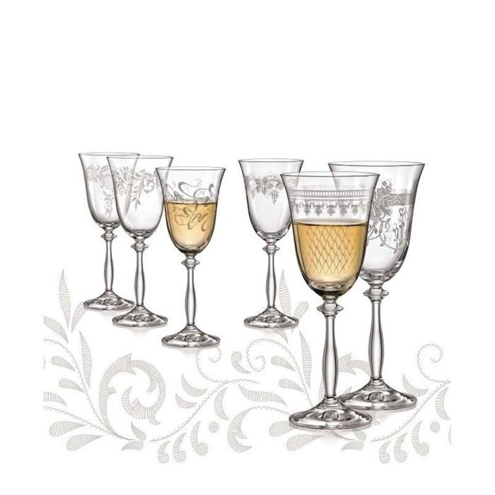 Набор бокалов для вина «Анжела», 250 мл, 6 шт