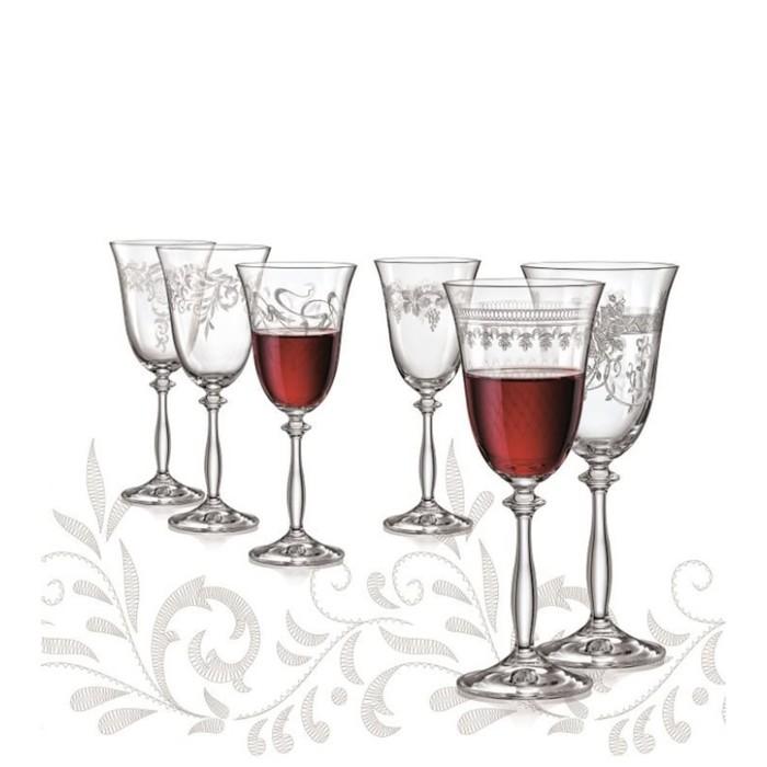 Набор бокалов для вина «Анжела», 350 мл, 6 шт