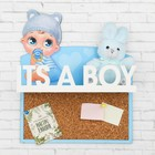 """Настенная полка с пробковой доской """"Its a boy"""""""